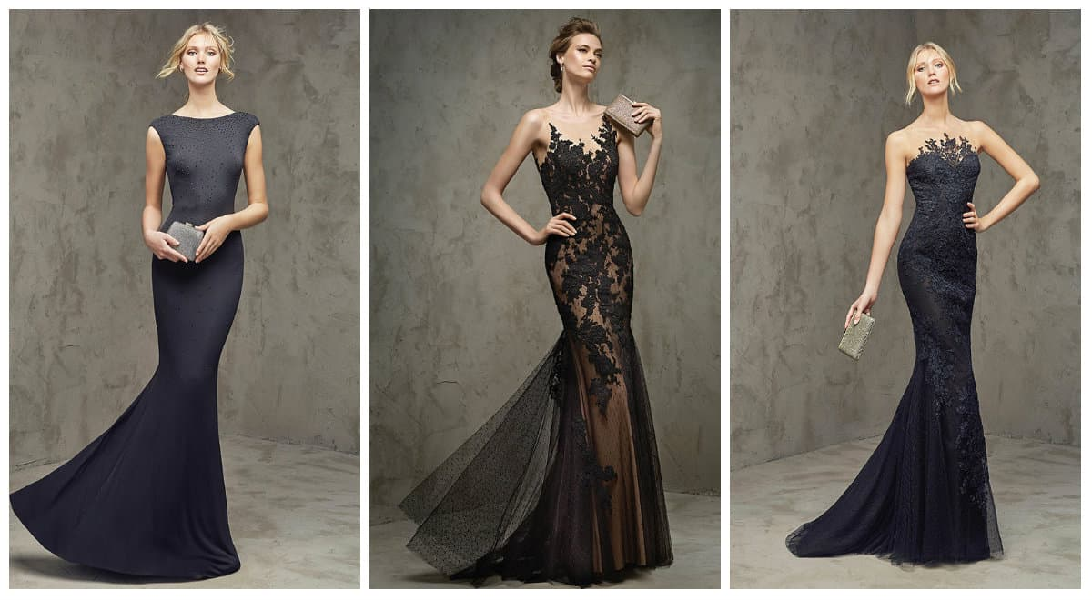 Black Long Cocktail Prom dresses