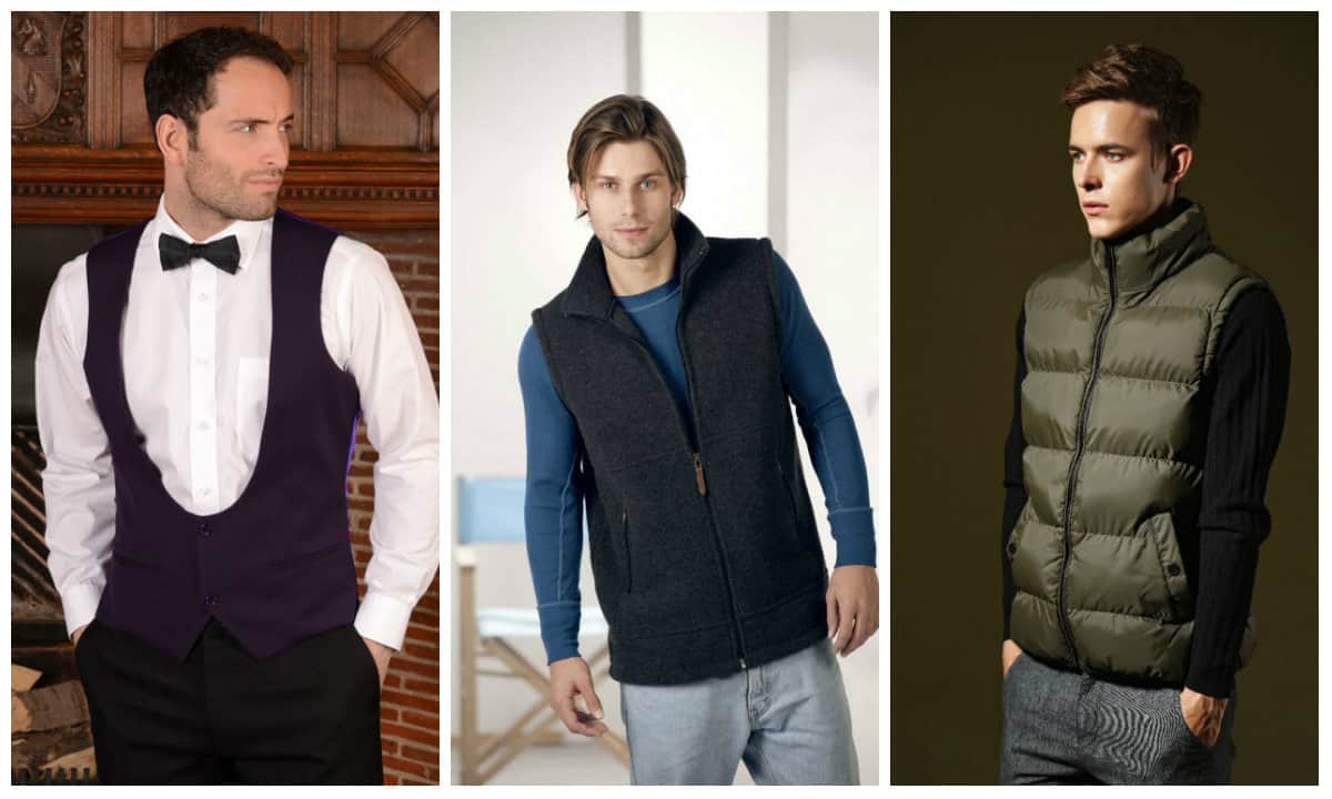 Men's clothing autumn winter 2015-2016 vest