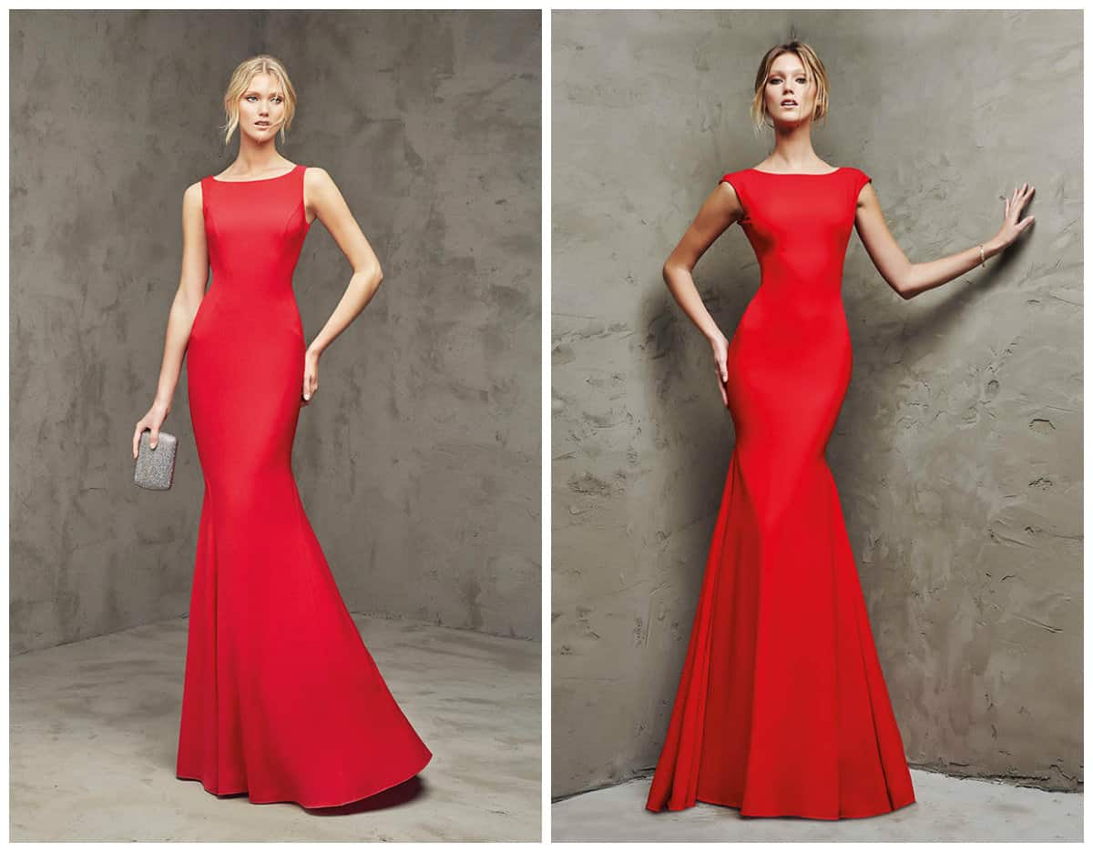 Red Long Cocktail Prom dresses