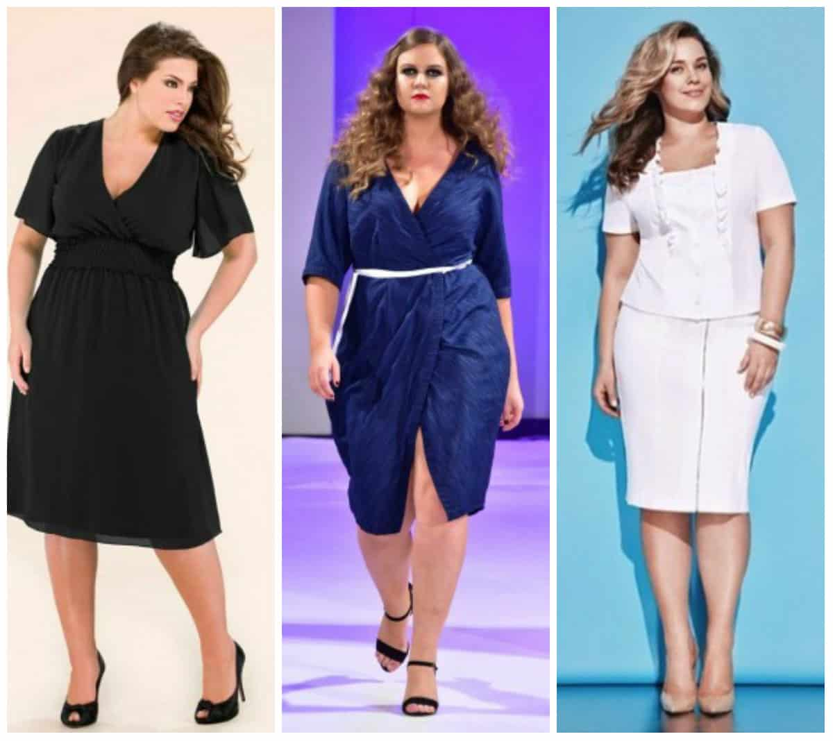 Cool Plus Size Dresses Became The Hit Of Plus Size Fashion 2017, Which Perfectly Highlights Dignity Of Figure And Visually Pulls Silhouette No Less Relevant Are Plus Size Tulip Dresses, Made In Black And White Colors And Asymmetrical Blouses On