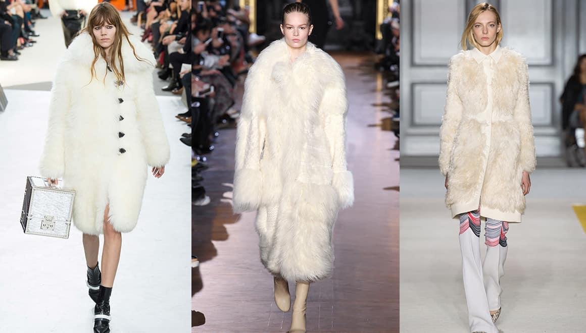 From left to right: Louis Vuitton, Stella McCartney and Giambattista Valli