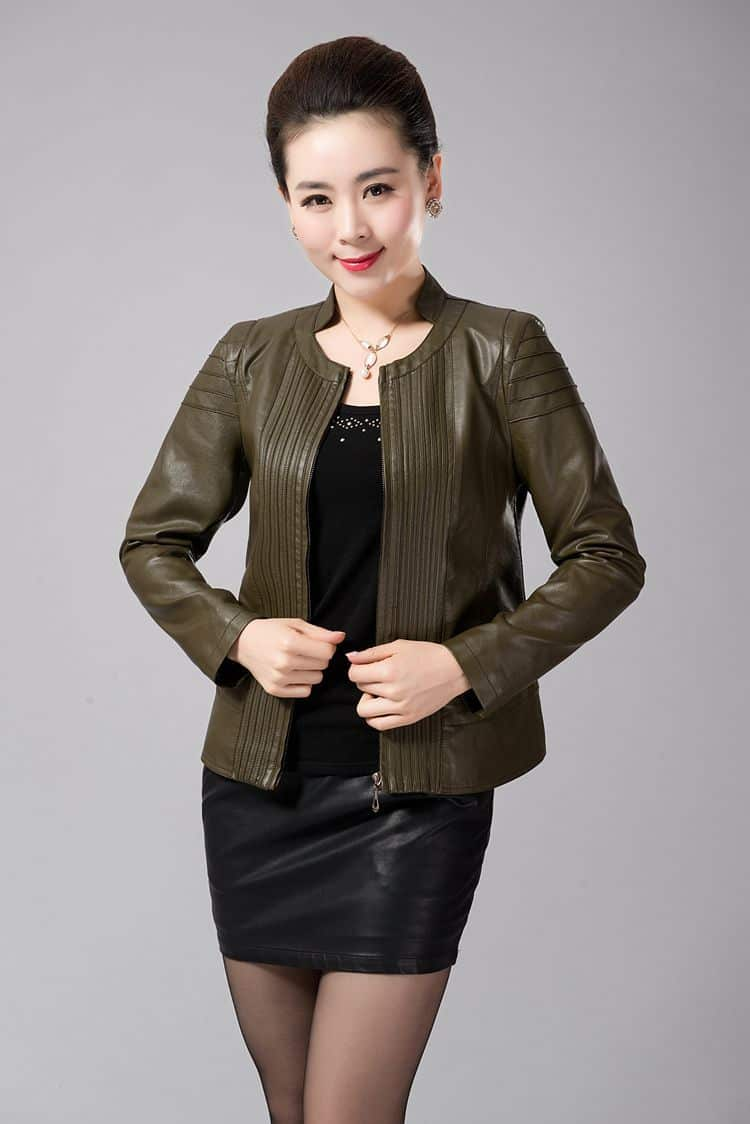 2016-short-Leather-Jackets-For-Women-