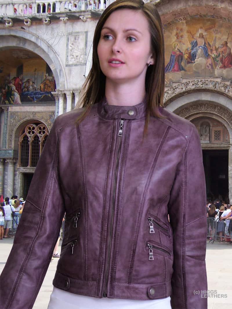 2016-short-Leather-Jackets-For-Women-purple-leather-biker-jacket