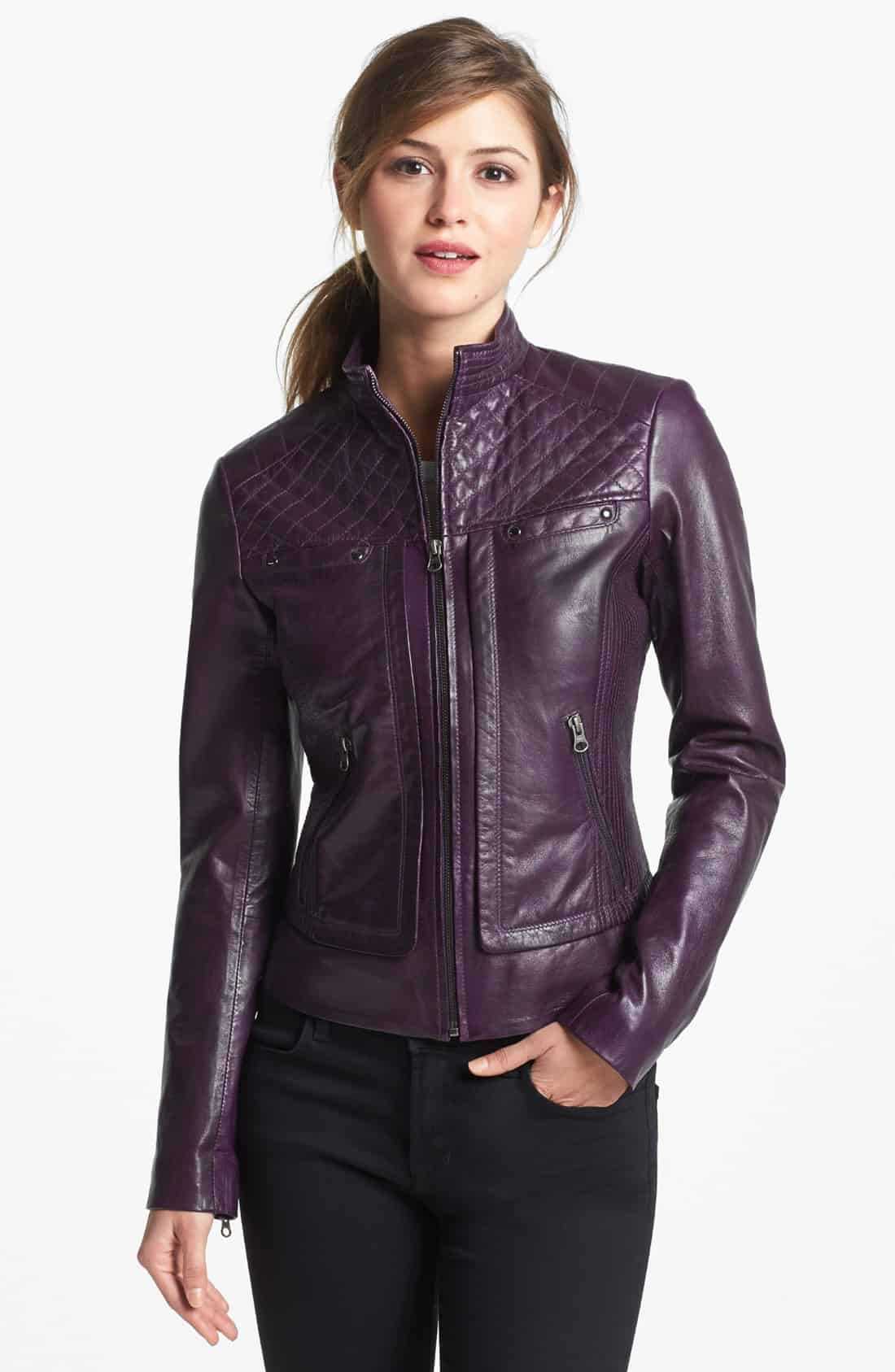 Girl leather jacket