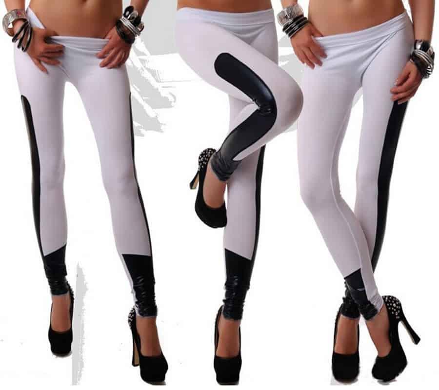 Fashion-Women-Leggings-black-red-camel-white-color-leather-Leggings-Pants