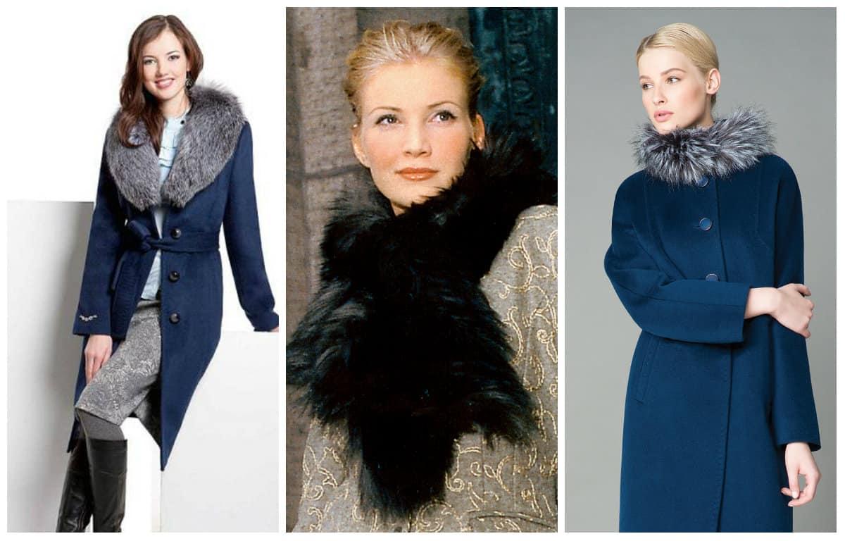Fashionable-women's-coat-with-fur-neckpiece-trends-2016