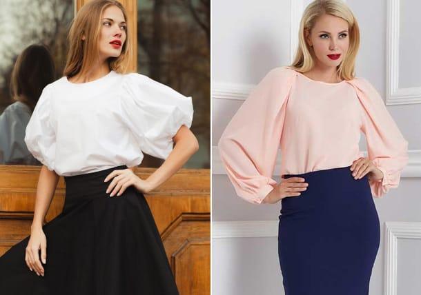 Blouse-design-2017-Bulk-sleeve-Blouse-trends-2017-blouses-for-women
