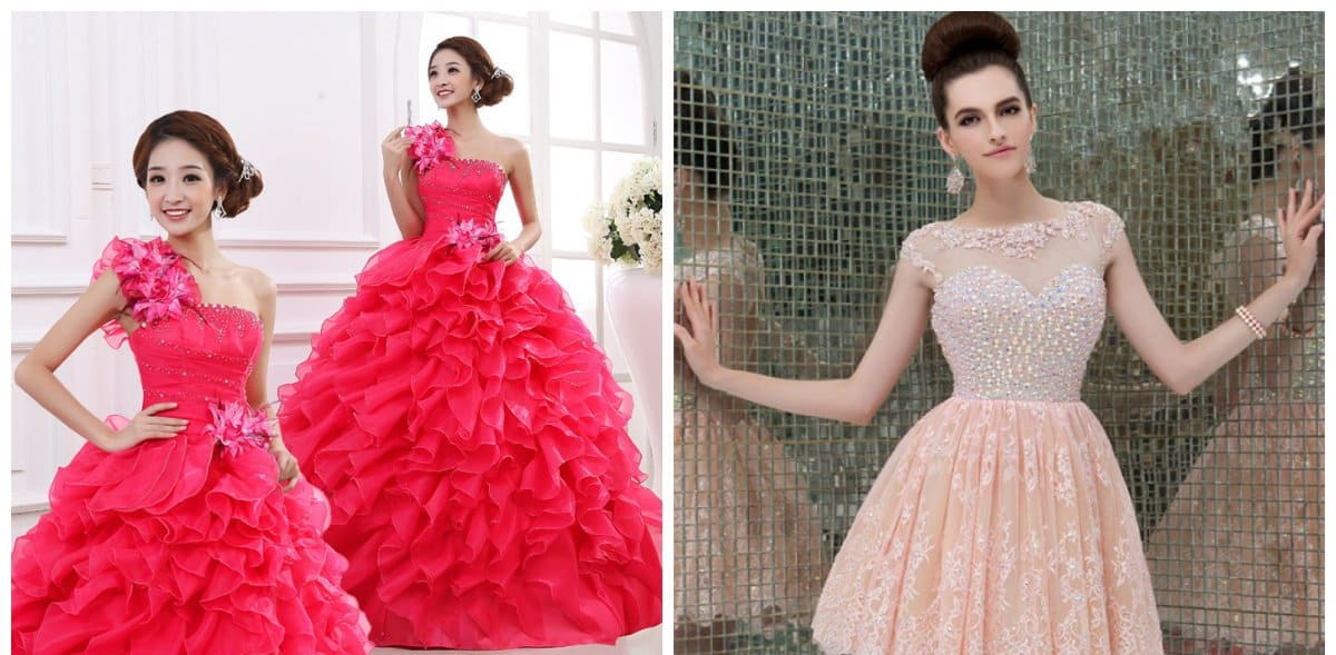 elegant evening gowns, long and midi evening gowns