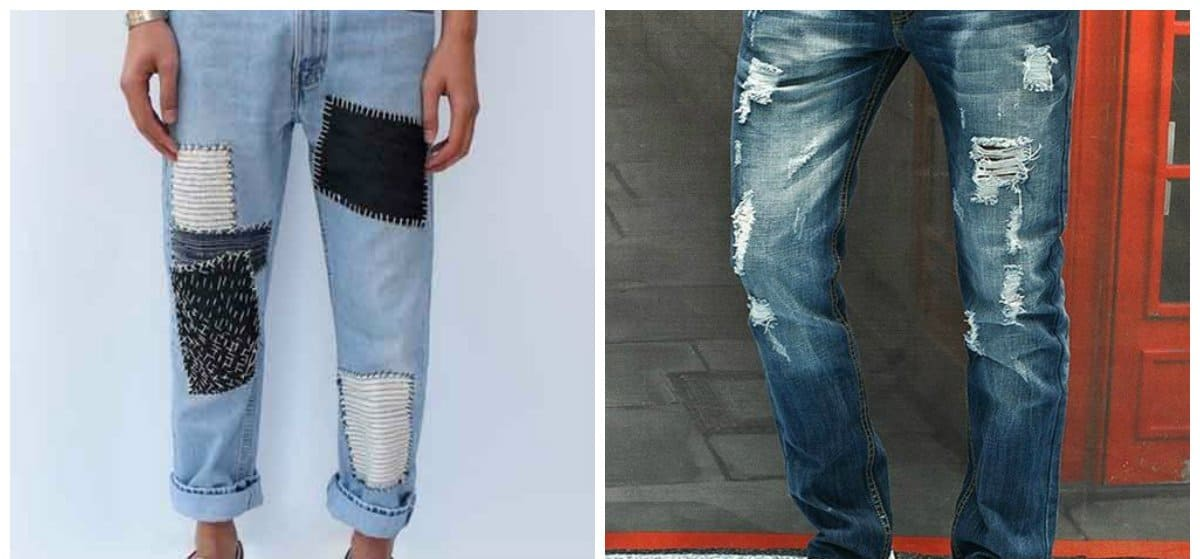mens fashion jeans, ragged jeans for men