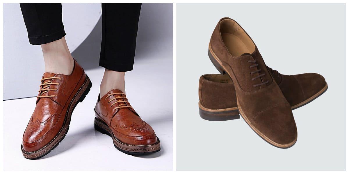 mens shoes 2019, mens suede shoes, brogue mens shoes