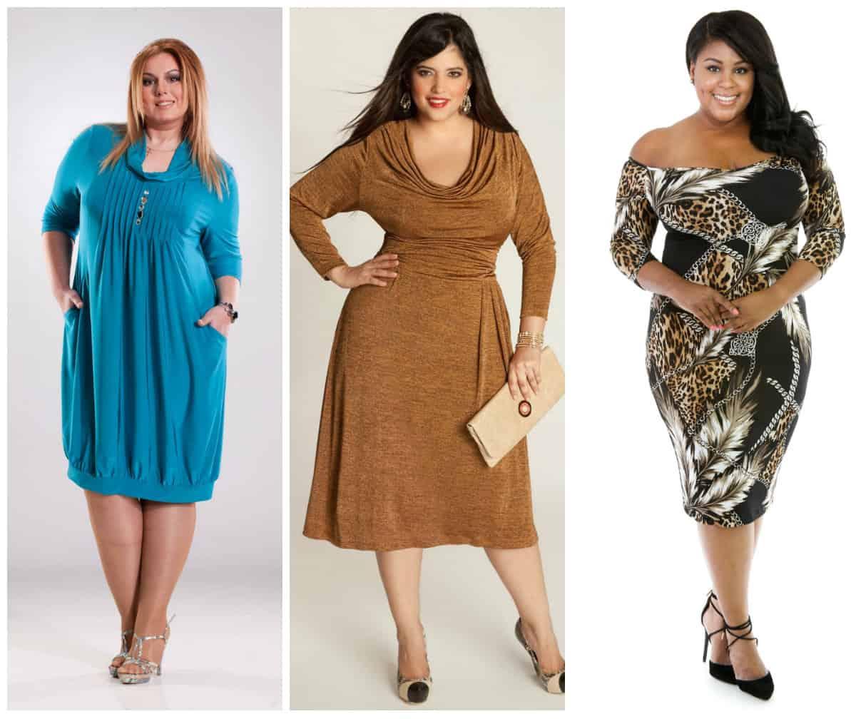 Ladies plus size cocktail dress
