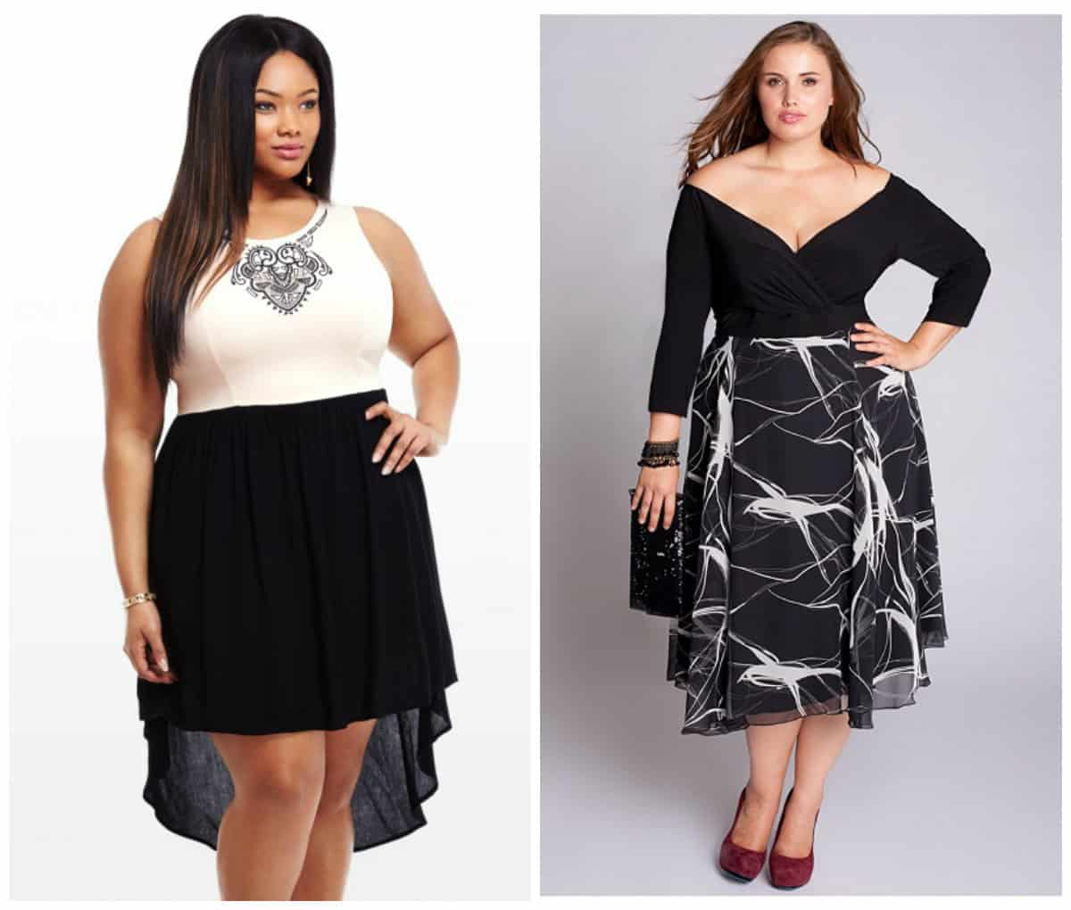 Women\'s plus size cocktail and evening dresses trends Autumn-Winter ...