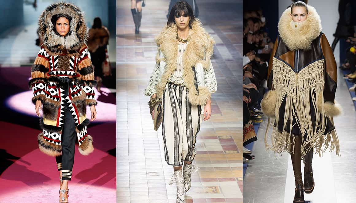 From left to right: Dsquared², Lanvin and Sacai