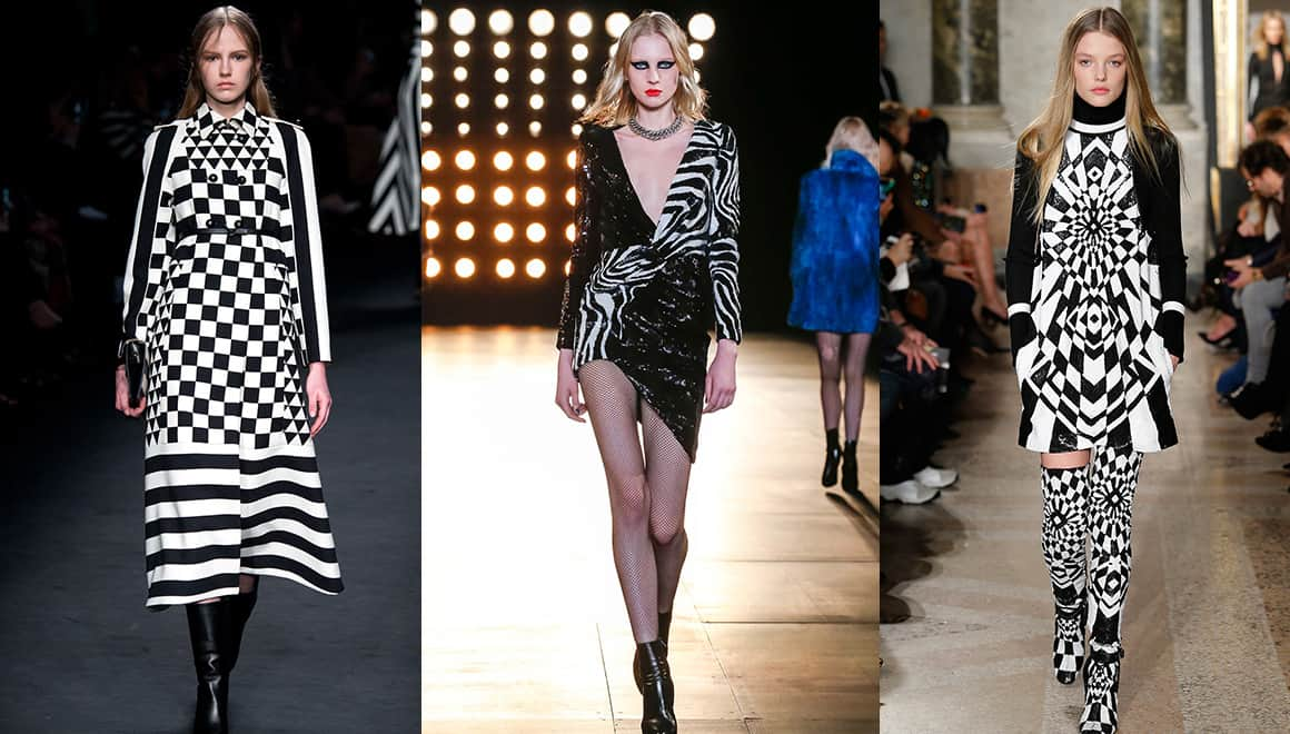 From left to right: Valentino, Saint Laurent and Emilio Pucci