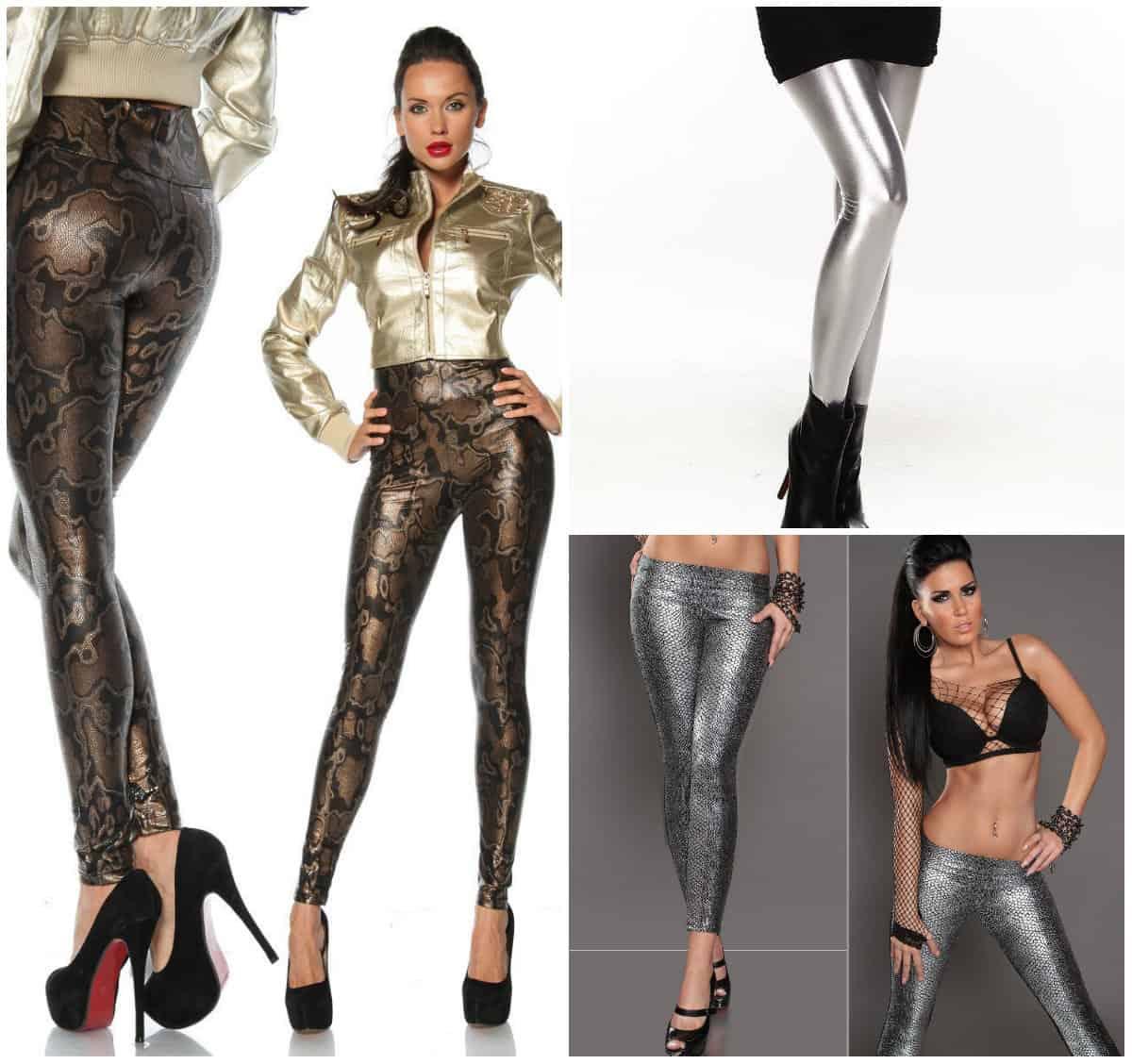 Metallic-leggings