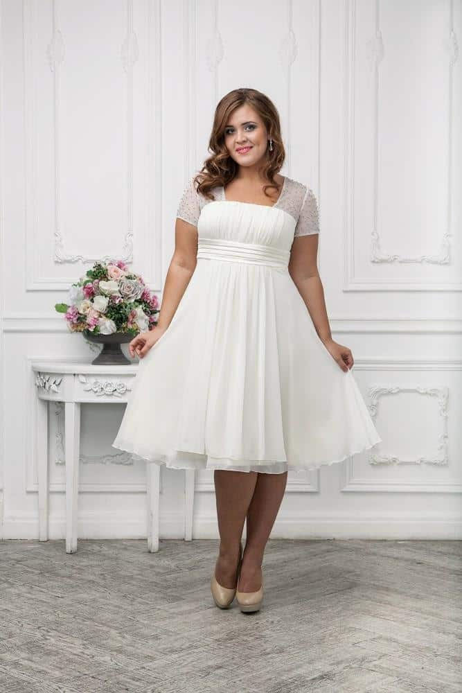 Plus size bridesmaid dresses trends 2016 dress trends for Wedding dress for a short bride