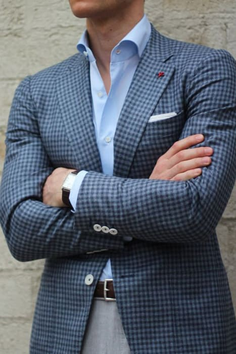 Black And White Gingham Shirt Mens