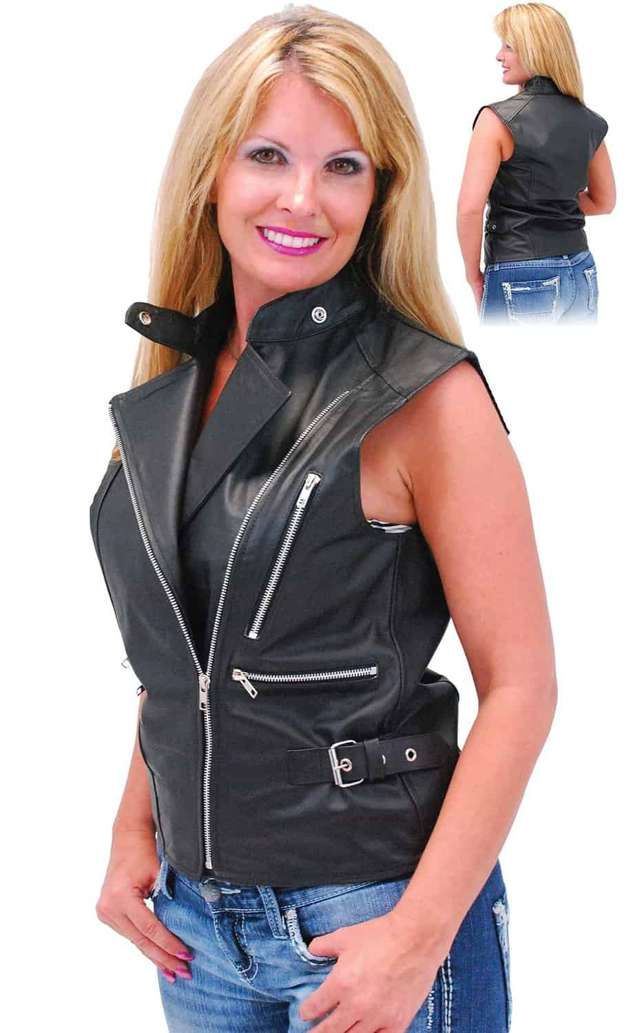 naked girls leather vest