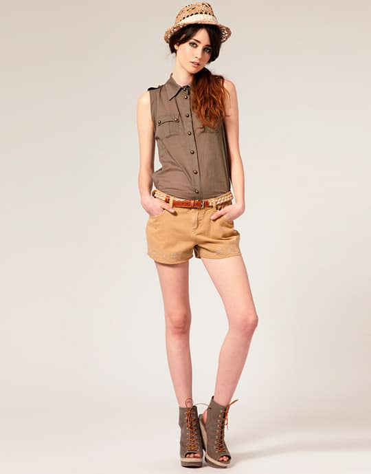 Trendy-womens-shorts-2016-khaki-shorts-for-women-3