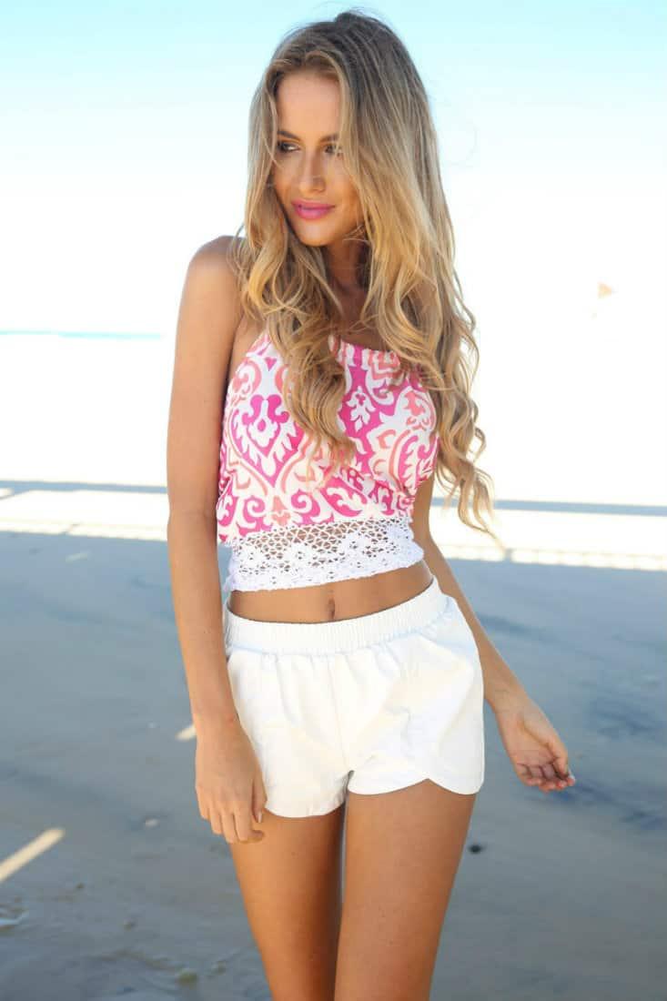 Trendy-womens-shorts-2016-white shorts-for-women-2