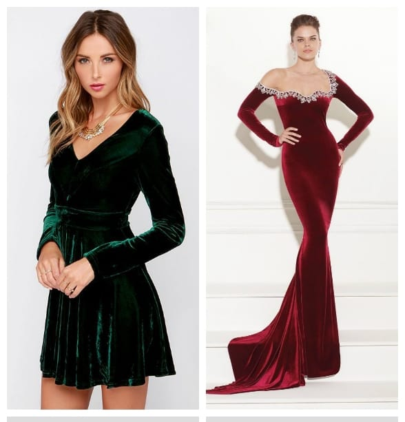 christmas-dresses-2018-trends-of-party-dresses-velvet-Christmas dresses 2018