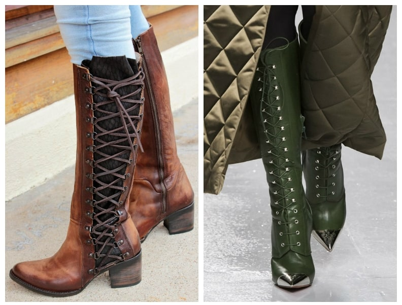 womens-boots-2018-lacing-women winter boots