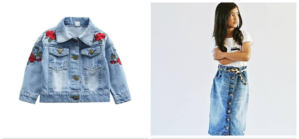 kids-fashion-2018-boys-trendy-clothing-trendy-girl-clothes-bleached-denim-trendy girl clothes