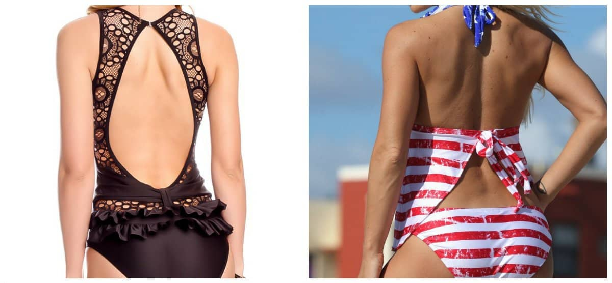 swimsuits 2018, open-back tankini