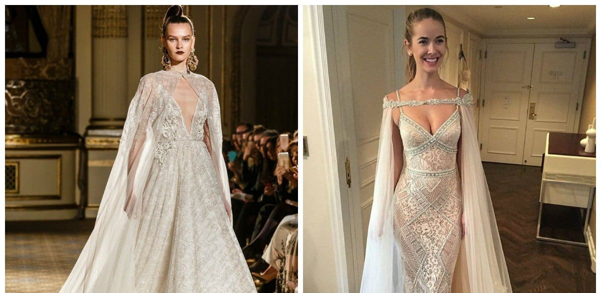 Wedding Gown With Cape: Wedding Dresses 2018: Main Tendencies For Wedding Gowns 2018
