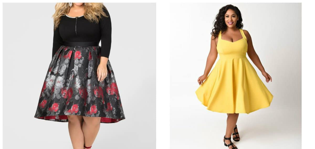 plus size prom gowns, dress with lush skirt