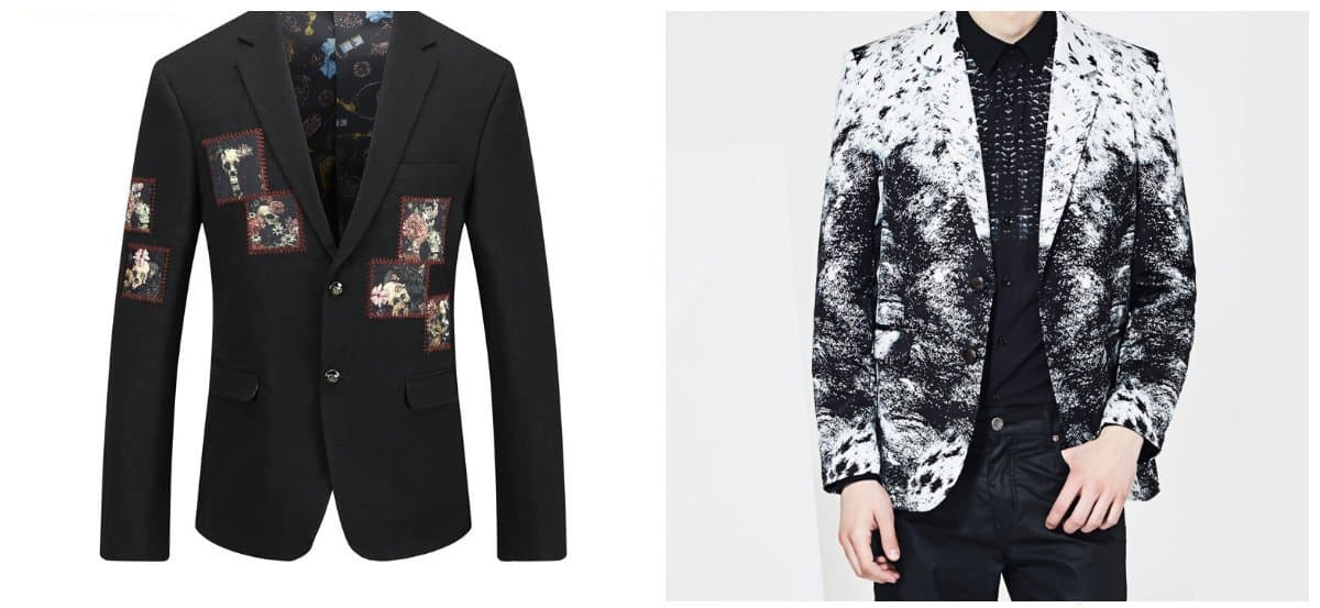 mens fashion blazer, blazers with patches, blazers with prints