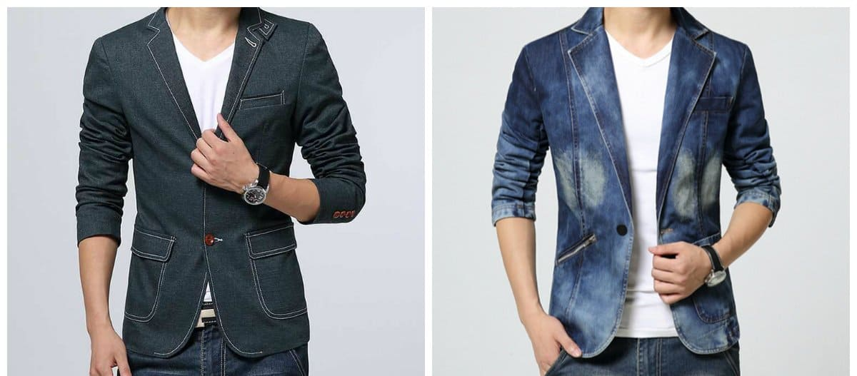 mens blazers 2018, denim blazers for men