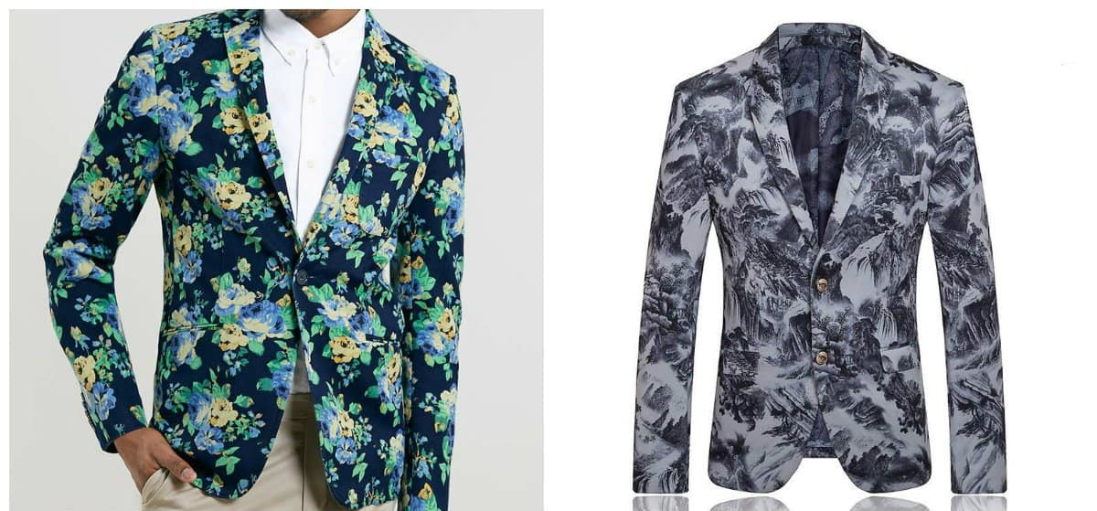 blazer for men 2018, floral blazer for men