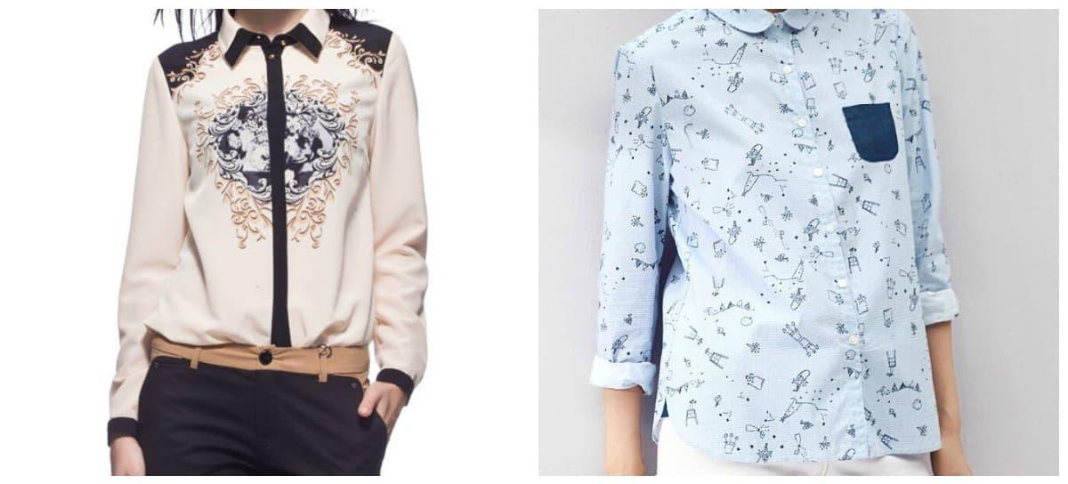 blouse trend 2018, snow-white blouses
