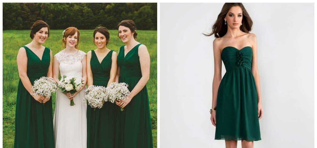 best bridesmaid dresses, green bridesmaid dresses