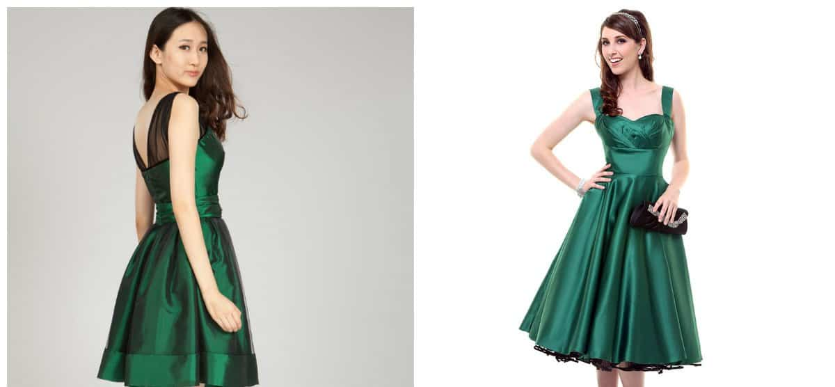 cocktail party dress, emerald fashionable cocktail dress