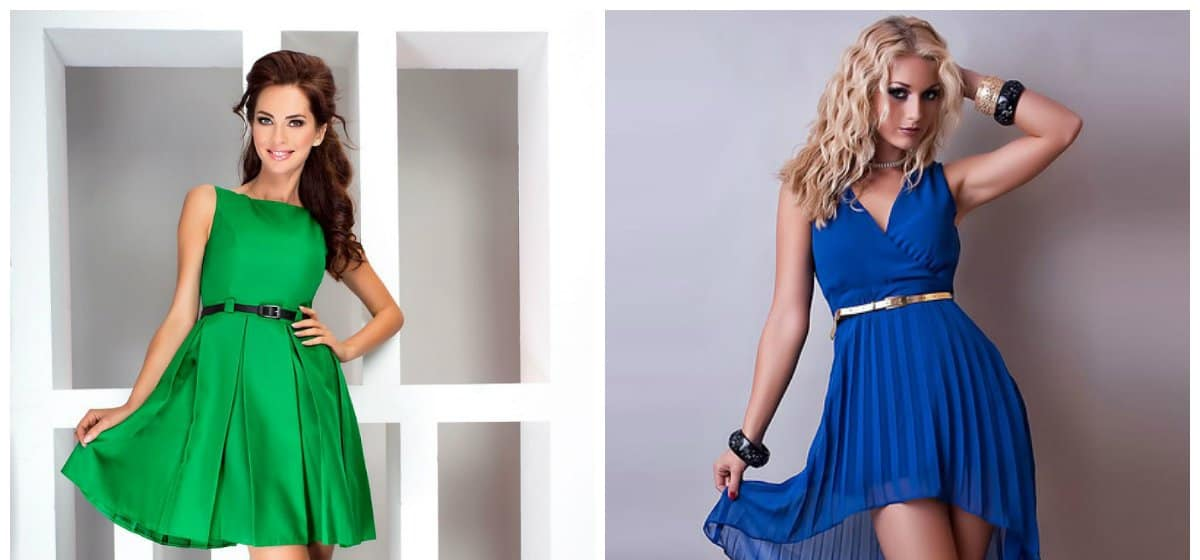 cocktail party dress, blue and green cocktail dresses