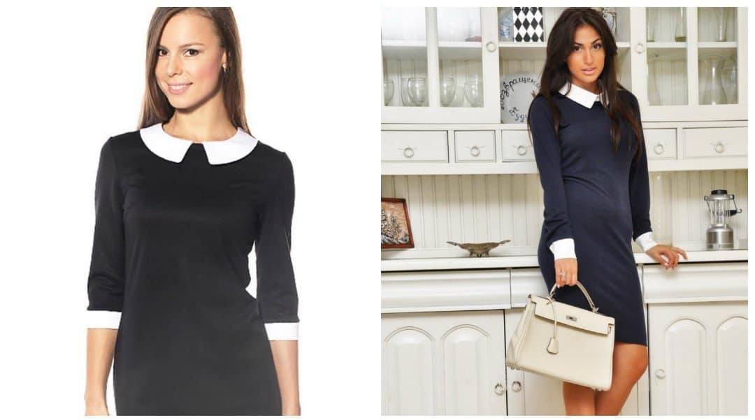 formal wear for women, formal dresses with white collar