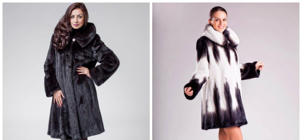 womens fur coats, trapezium fur coats, gode fur coats