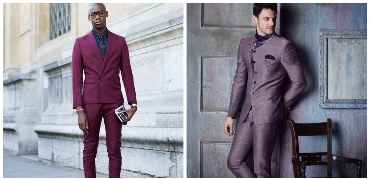 men fashion 2018, purple fashion for men, purple suits