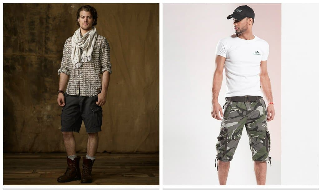 shorts for men 2018, military style shorts