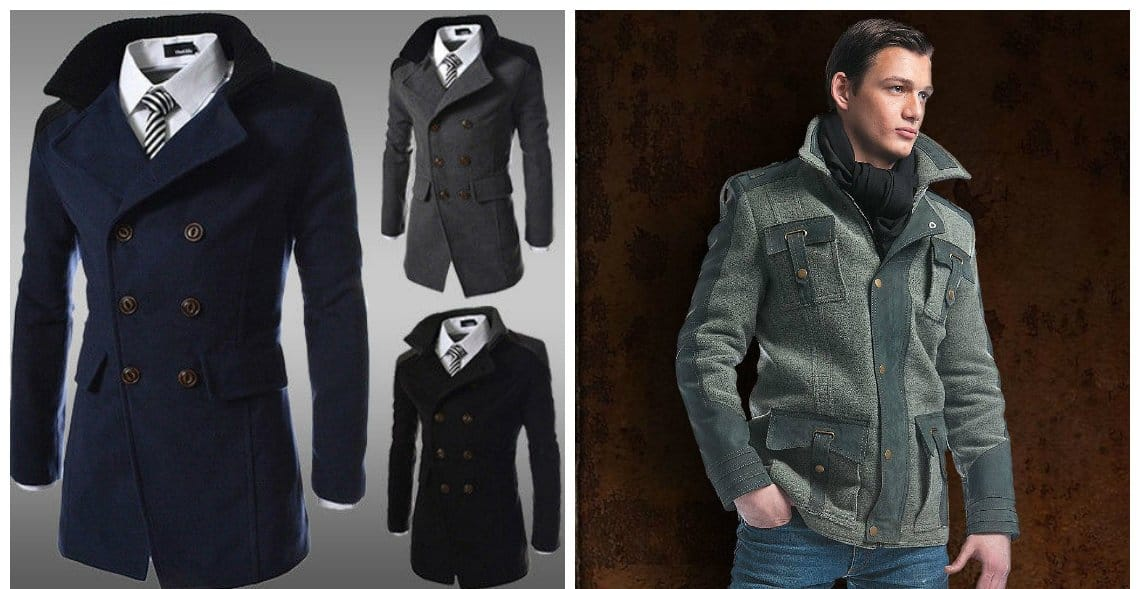 mens coats 2018, Double-breasted coat-jacket, coat-jacket