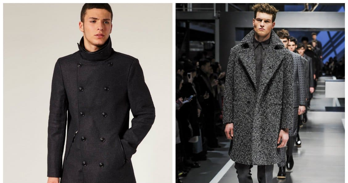 mens coats 2018, drape and tweed coats