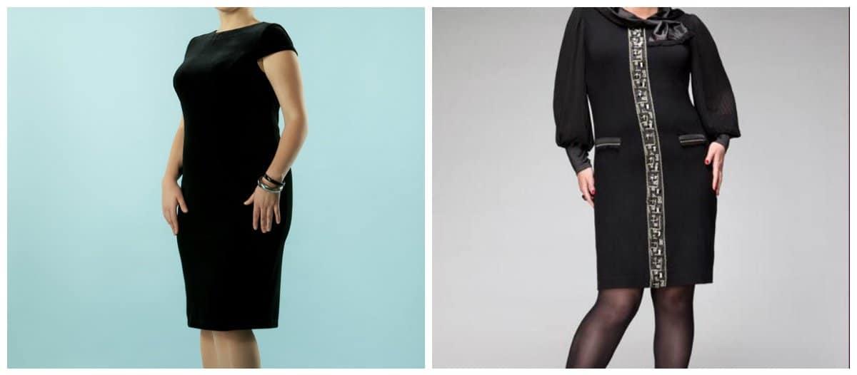 trendy plus size dresses, black dress