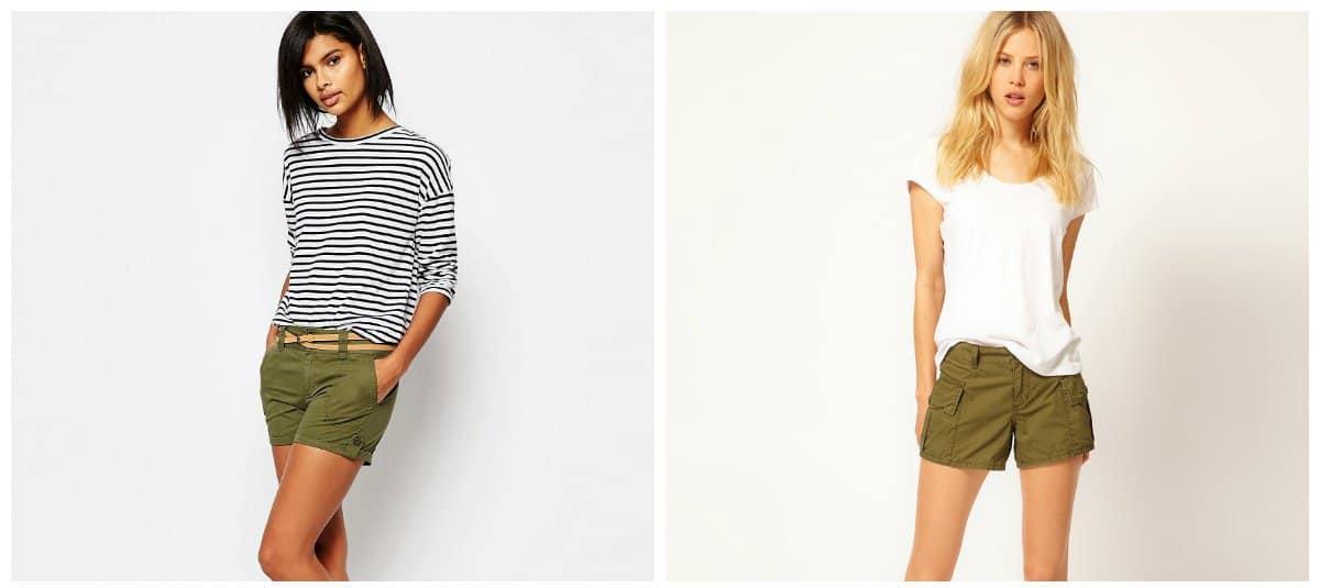 ladies summer shorts, cargo stylish shorts for women