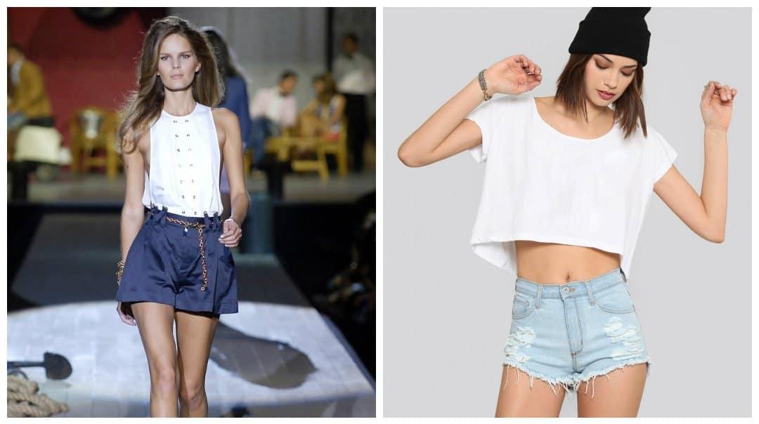 female shorts, high-waisted stylish shorts for women