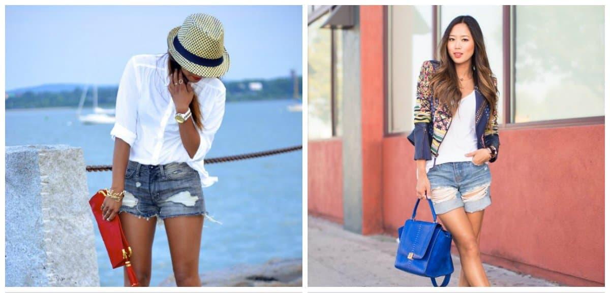 ladies summer shorts, ragged fashionable female shorts