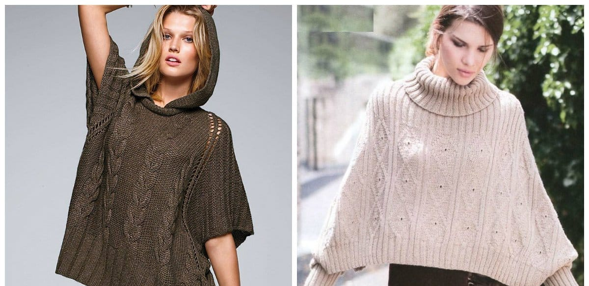latest fashion trends 2018, poncho sweaters for women