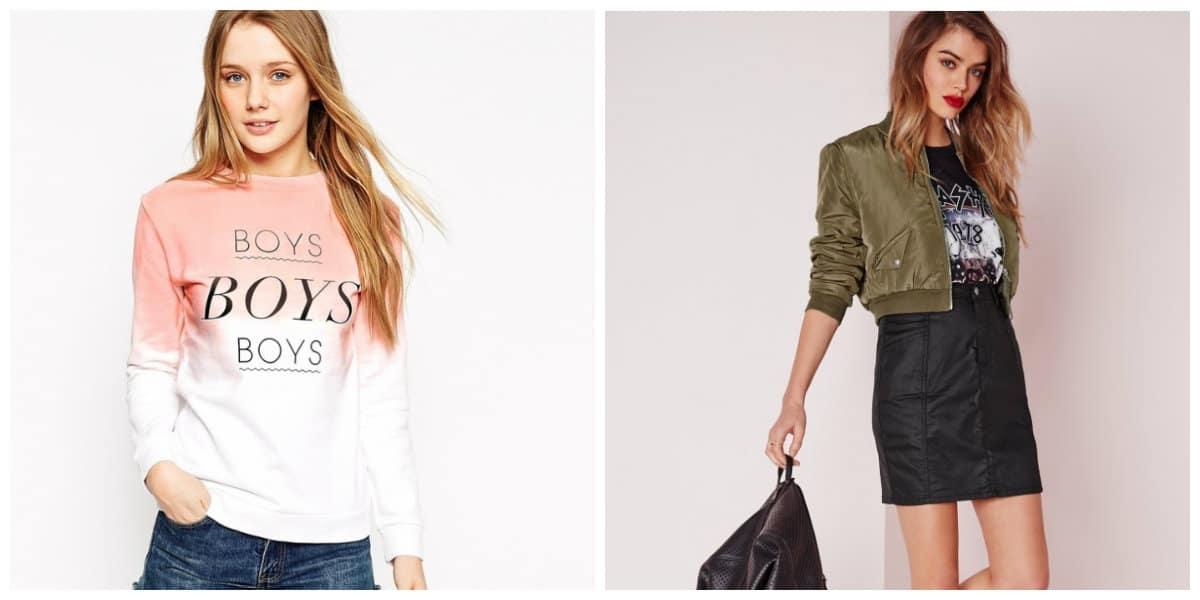 girls fashion 2019, sweatshirt in girls fashion 2019, cropped jacket in girls fashion 2019