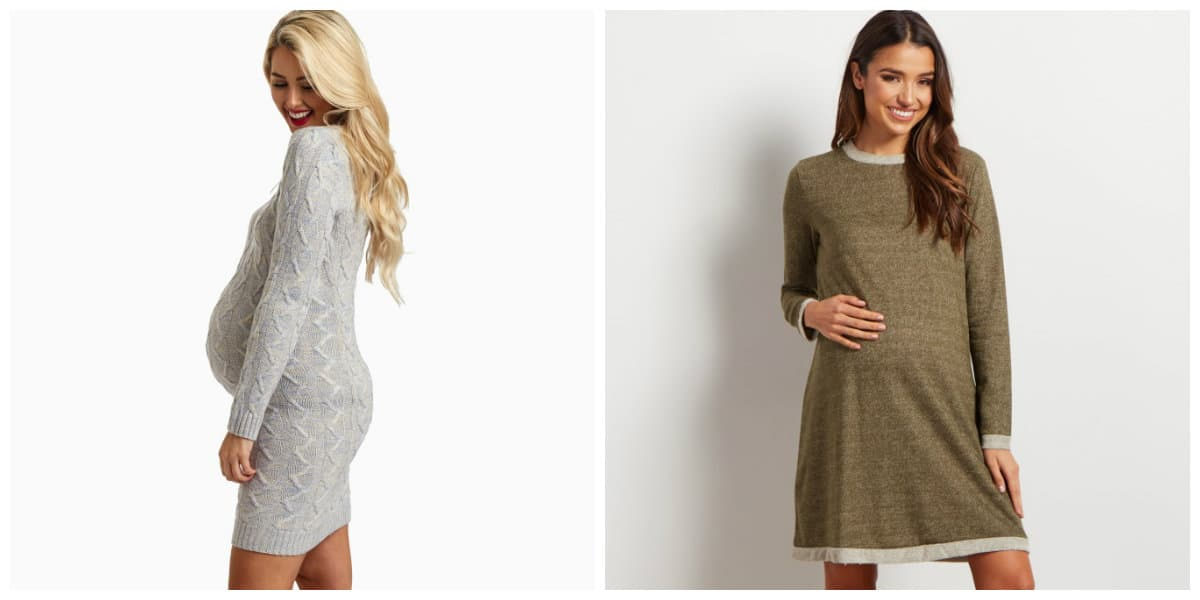 maternity fashion 2019, maternity fashion trends 2019, maternity sweater dresses 2019